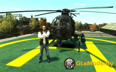 New AH-6 LittleBird для GTA IV