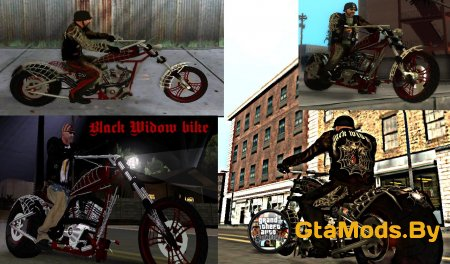 Black Widow bike для GTA San Andreas