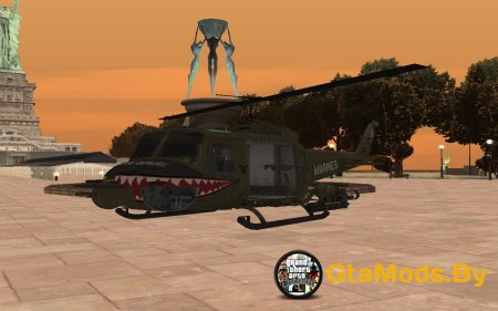 Huey Call of Duty BO для GTA San Andreas