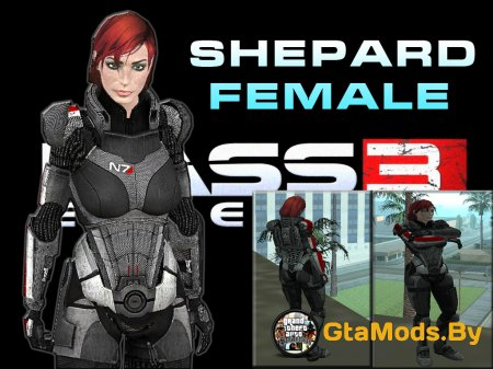 Female Shepard from Mass Effect 3 для GTA SA