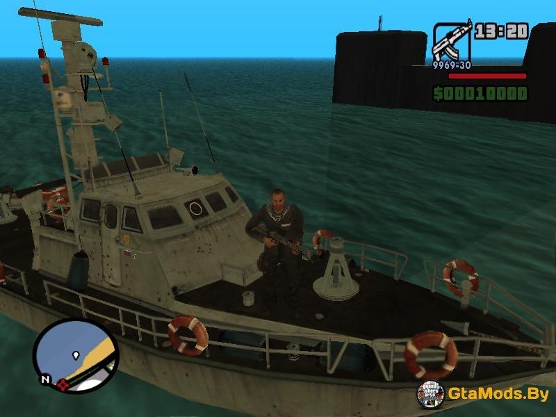 если в gta sa подводная лодка