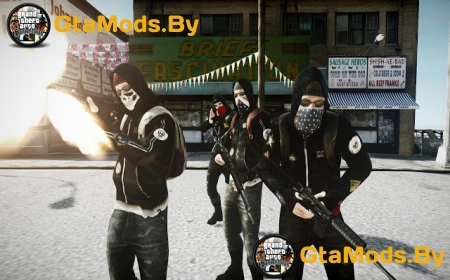 Counter-Strike Global Offensive Anarchists для GTA IV