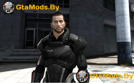 Mass Effect 3 Shepard Default Armor для GTA IV
