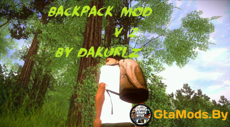Backpack mod (рюкзак) для GTA SA