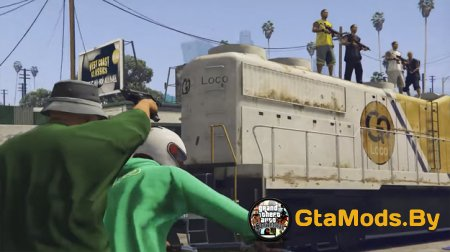 В GTA 5 воссоздали миссию Wrong Side Of The Tracks из GTA SA